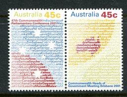 Australia 2001 Commonwealth Heads Of Government Meeting Set MNH (SG 2138-2139) - 2000-09 Elizabeth II