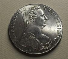 1780 - Autriche - Austria - 1 THALER, Marie-Thérèse De Habsbourg, Argent, Silver, Refrappe De KM T1 - Autriche