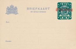 Nederland - 1921 - 7,5 Op 5 Op 2 Op 1,5 Cent Dubbele Opdruk Briefkaart G186 Type II - Ongebruikt - Ganzsachen