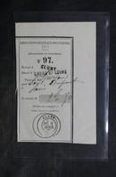 FRANCE - Récépissé De Mandat De Paris Pour Cluny - L 34387 - Marcophilie (Lettres)