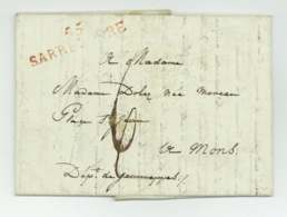 55 SARRELIBRE Saarlouis Saarwellingen Marie Ezechiel De BAROLET 1813 Mons Jemmapes - 1792-1815: Conquered Departments