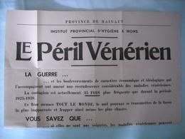 Avis Institut D'hygiène ' Maladies Vénériennes ' - 1939-45