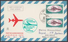 Mi-Nr. 1653, MeF Mit 2 Werten Auf Luftpostkarte Nach Jugoslavien, Mit Ankunft - DDR