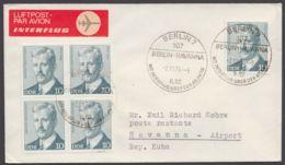 Mi-Nr. 1915, MeF Mit 5 Werten Auf Luftpost Nach Cuba, Mit Ankunft - DDR