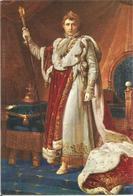 Empereur NAPOLEON 1er En Costume De Sacre D'après Gérard (scan Verso) - Histoire