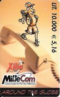 CARTE PREPAYEE-ITALIE-10000Lires-MILLECOM-XILIA--Plastic Fin-TBE - Italie