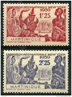 Martinique (1939) N 168 à 169 * (charniere) - Martinica (1886-1947)