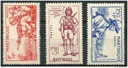 Martinique (1941) N 186 à 188 * (charniere) - Martinica (1886-1947)
