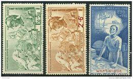 Martinique (1942) PA N 1 à 3 * (charniere) - Martinique (1886-1947)