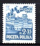 Pologne /  N 714 / 2z35 Bleu  / NEUF** / Côte 7.5 € - 1944-.... République
