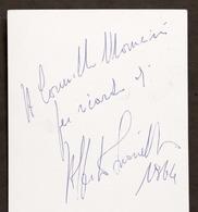 Cinema Teatro - Autografo Dell'attore Alberto Lionello - 1964 - Autografi