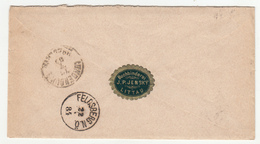 J.P. Jensky Buchbinderei Littau Letter Cover Travelled 1884 Littau (Litovel) To Feldsberg B190715 - Briefe U. Dokumente