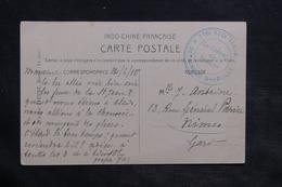 """FRANCE - Cachet """" 118ème Régiment Territoriale Détachement De Marseille """" Sur Carte De Saïgon En FM En 1915 - L 34391 - Marcophilie (Lettres)"""