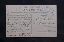 """INDOCHINE - Cachet """" 118ème Régiment Territoriale Détachement De Marseille """" Sur Carte Postale En FM En 1915 - L 34392 - Indochine (1889-1945)"""