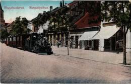 T2/T3 1916 Nagybecskerek, Zrenjanin, Veliki Beckerek; Városi Vasút Gőzmozdonya, Mangold, Bergenthal Albert és Benő Testv - Postcards