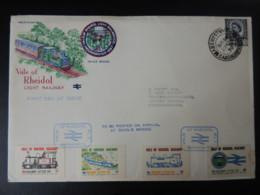 GREAT BRITAIN Vale Of Rheidol Railway Aberystwyth Postmark Letter Fee Good (see Scans) GB TRAINS - FDC