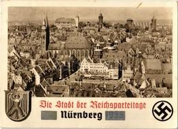 * T2/T3 1939 Nürnberg, Nuremberg; Die Stadt Der Reichsparteitag. NS (Nazi) Propaganda With Swastika. So. Stpl (EK) - Unclassified