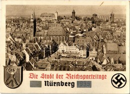 * T2/T3 1939 Nürnberg, Nuremberg; Die Stadt Der Reichsparteitag. NS (Nazi) Propaganda With Swastika. So. Stpl (EK) - Postcards