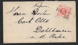 1887 - Schweden Schiffspost - 20öre (Mi.22B) FRA SVERIGE Nach DAHLHAUSEN - Briefe U. Dokumente