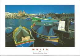 MALTA  -  Marsaxlokk Fishing Village  (scan Verso) - Malte