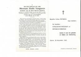 DP 7994 - ELODIE VANGAEVER - HANDZAME 1880 + ZARREN 1963 - Devotieprenten
