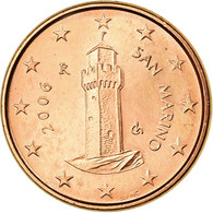 Monnaie, San Marino, Rome, Euro Cent, 2006, SUP, Copper Plated Steel - Monétaires / De Nécessité