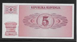 Slovénie - 5 Tolarjev - Pick N°3 - NEUF - Slovenië