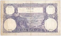 Románia 1920. 100L T:III- Szakadások Romania 1920. 100 Lei C:VG Tears - Coins & Banknotes