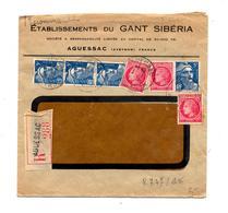 Lettre Recommandee Aguessac Sur Gandon Ceres - Marcophilie (Lettres)