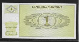 Slovénie - 1 Tolar - Pick N°1 - NEUF - Slovenië