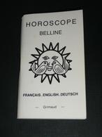 Rare Notice De Jeu De Cartes Oracle Cartomancie HOROSCOPE BELLINE, Divinatoire Voyance, Français English Deutsch - Jeux De Société