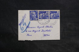 FRANCE - Enveloppe En Pneumatique De Paris En 1953 , Affranchissement Gandons - L 34404 - 1921-1960: Période Moderne