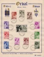 HB 556/567 ORVAL HERDENKINGSBLAD 1941 - Souvenir Cards