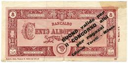 100 ALBOPUNTI BUONO PER IL CONCORSO ALBI PER RAGAZZI 29/01/1951 MB/BB - [ 7] Errores & Variedades