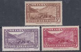 Andorre N° 43 / 45 XX  Paysages De La Principauté, Partie De Série : Les 3 Valeurs Sans Charnière, TB - Andorre Français