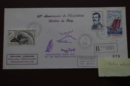 6-222 LR Rallier Du Baty Navire Charcot  TAAF Haroun Tazieff Volcan Kerguelen Boulogne Cherbourg Tristan Da Cunha 1988 - Volcans