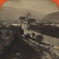 Stéréo Contre La Lumière 1860-70 . Vue De Brixen (Brennerthal). Bressanone , Italie . - Photos Stéréoscopiques