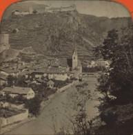 Stéréo Contre La Lumière 1860-70 . Italie . Vue De Klausen (Chiusa), Près Brixen (Bressanone). - Photos Stéréoscopiques