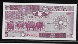 Somalie - 5 Shilin - Pick N°31b - NEUF - Somalie