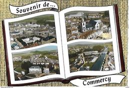 CPSM/gf (55) COMMERCY.  Vue Aérienne, Multivues.  .I 753 - Commercy