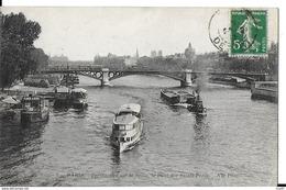 CPA (75) PARIS.  Pont Des Saints-Pères, Péniches Avec Piano à Bord, Bateau D'excursion, Pub Chocolat Menier. ..I 695 - Ponts