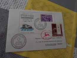Timbre France EUROPA + Timbre Israel Sur Enveloppe Exposition Philatelique Du Timbre D'Israel - France