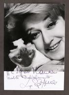 Cinema Teatro - Autografo Dell'attrice Lia Zoppelli - Anni '60 - Autografi