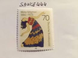 Germany Mary Wigman Dancer 1986 Mnh - [7] Federal Republic