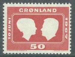 GROENLAND - 1967 - MNH/*** LUXE -  NOCE PRINCIERE - Yv 59  - Lot 19936 - Neufs
