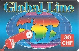 Prepaid: Global Line, Globus. 12.98 - Schweiz