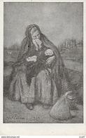 CPA  Illustrateur A. FAIVRE.  Femme Pleurant Son Mari, Bébé.  .CO 240 - Faivre