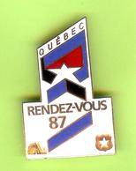 Gros Pin's /Broche Québec Rendez-Vous 87 (Hockey Nordiques De Québec) - #622 - Winter Sports