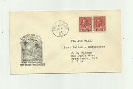CANADA - Lettre Paire  Timbres 3 Cents Rouge  Cachet Fort Nelson White Horse - 1937-1952 Règne De George VI