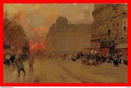 CPA Illustrateur Luigi LOIR.  PARIS. Boulevard Rochechouart. Pub Chocolat Lefèvre-Utile ...CO 776 - Loir